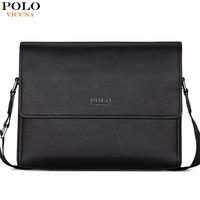 VICUNA POLO Brand Business Man Bag High Quality Casual Cross Body Shoulder Bag Vintage Mens Briefcase