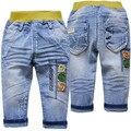 4019 pantalones vaqueros del bebé del bebé del otoño del resorte pantalones de mezclilla suave luz azul bebé moda de nueva pantalones de los niños niza