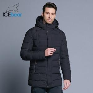 Image 2 - ICEbear 2019 new mens winter  jacket warm detachable hat male short coat fashion casual apparel man brand clothing MWD18813D