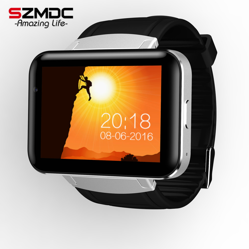 NEW DM98 Smart watch MTK6572 Dual core 2.2 inch HD IPS LED Screen 900mAh Battery 512MB Ram 4GB Rom Android OS 3G WCDMA GPS WIFI
