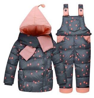 2017 neue Kinder Jungen Mädchen Winter Warme Daunenjacke Anzug Set - Kinderkleidung - Foto 2