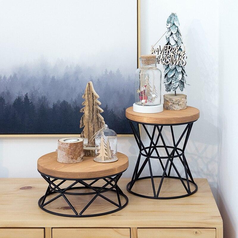 โต๊ะเค้กยุโรปสไตล์เค้ก pan แม่พิมพ์ไม้สูงถาดไม้สร้างสรรค์ snack rack อุปกรณ์จัดงานแต่งงาน-ใน ขาตั้ง จาก บ้านและสวน บน   1