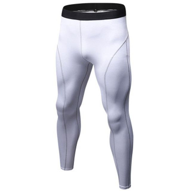 c0b1b9e600c484 White Gym Leggings Running pants for Men Compression Sports Tights Sweat  Pants Jogging Trousers Quick Dry Man Sporswear Pant XXL