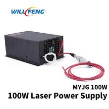 Will Feng MYJG 100 Вт СО2 лазерный источник питания для СО2 лазерный резак гравировальный станок 100 Вт лазерная Коробка используется для лазерной трубки