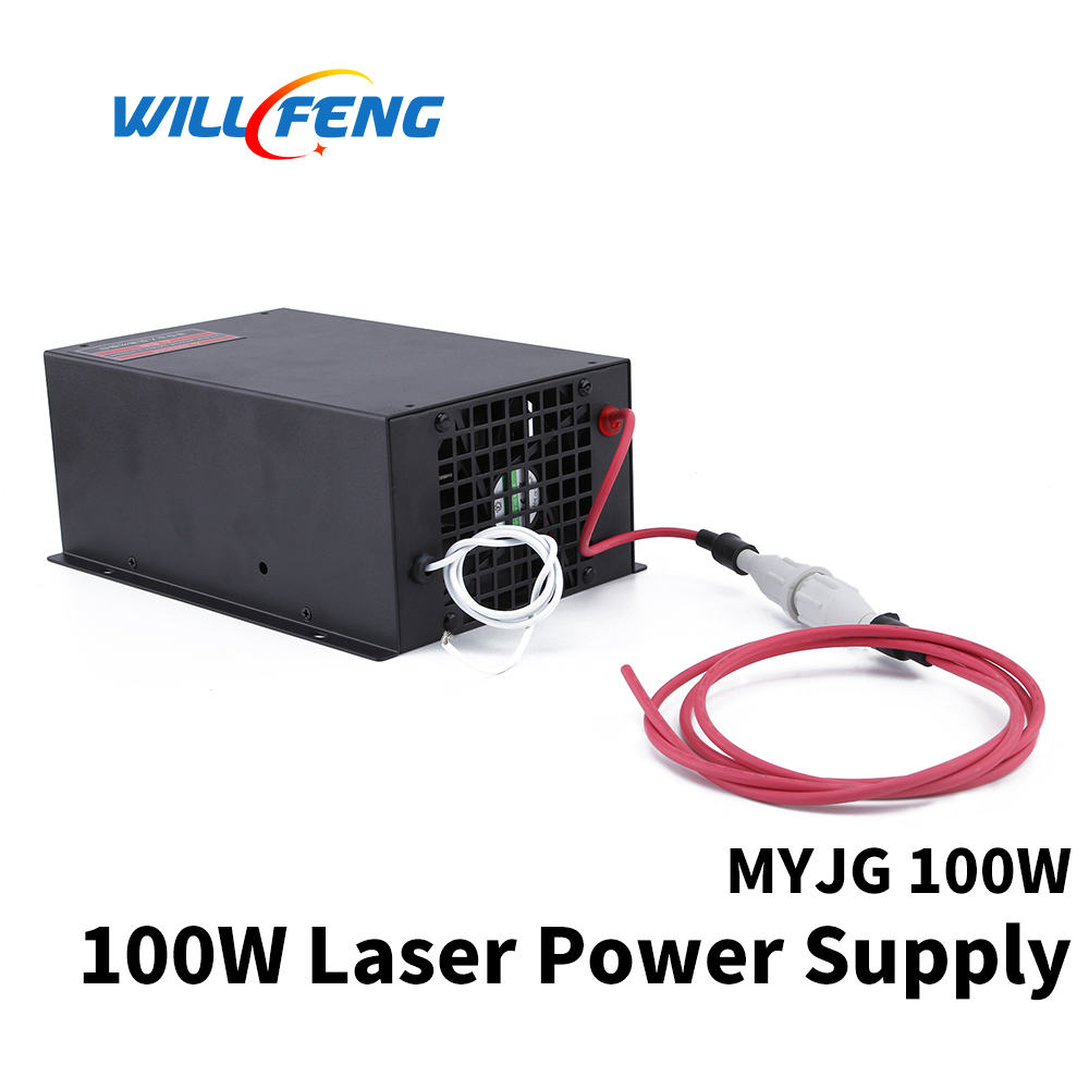 Will Feng MYJG 100w Co2 Laser Power Supply For Co2 Laser Cutter Engraving Machine 100w Laser Box Use For Laser Tube-in Woodworking Machinery Parts from Tools    1