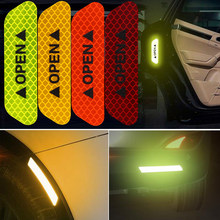 4 Stuks Auto Waarschuwing Mark Reflecterende Tape Veiligheid Verlichting Lichtgevende Tapes Voor Honda Civic Accord Crv Subaru Forester Outback Impreza(China)