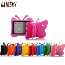 Cute Butterfly EVA Shockproof Case For Apple iPad Mini 1 2 3 4 3D Wings Stands Tablet Kids Protect