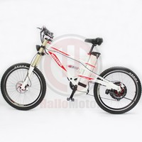 ConhisMotor Powerful 48V 1000W Mustang Mountain Electric Bicycle with 48V 20Ah Ebike Li ion Battery Strong White Frame