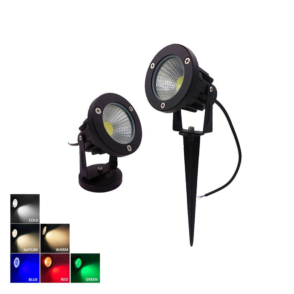 7 watt 9 watt 12 watt 15 watt 12 v 220 v Outdoor Garten Lampe LED Rasen Licht COB LED spike Lampe Wasserdicht Teich Pfad Landschaft Spot Lichter Lampen