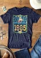 Las mujeres Rodeo Las Vegas 1985 EE. UU. Camiseta de manga corta superior Harajuku Ulzzang suelto t camisa señoras coreano de la ropa 2019
