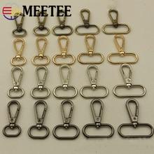 Meetee 5pcs 16/20/25/32/38mm Metal Dog Collar Carbiner Buckle Bag Handbag Strap Clip Hook Key Chain DIY Crafts Accessories F4-1