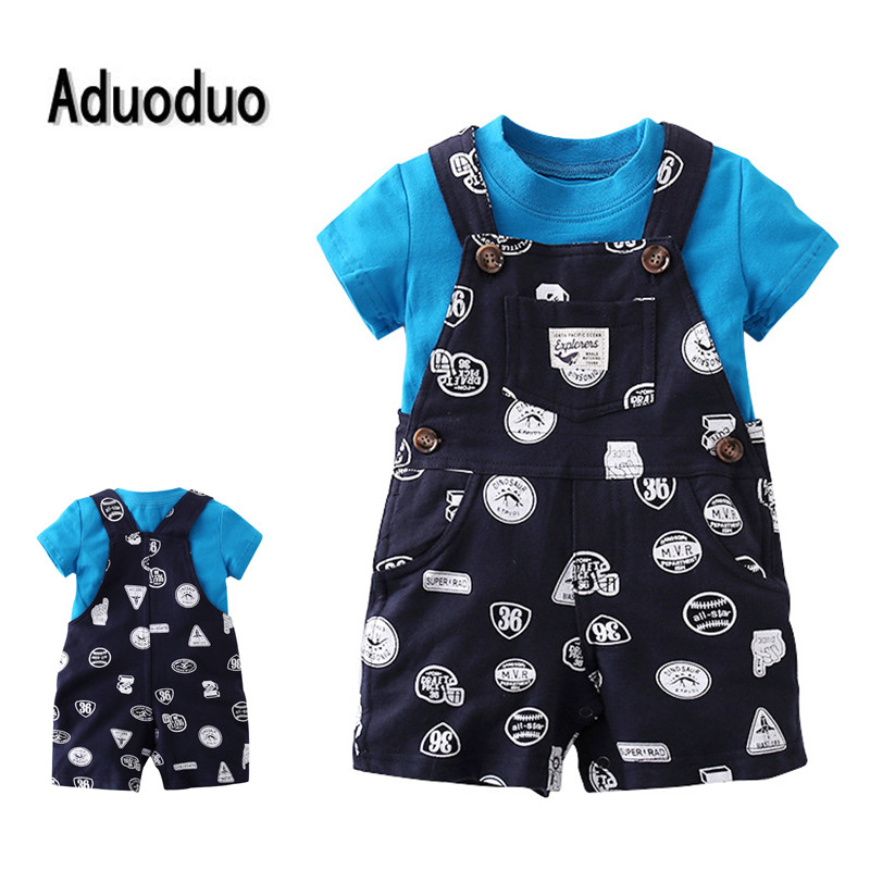 2017 bebes baby boys clothes sets newborn baby kids summer shorts girls T-shirt Belt pats 2pcs drop shipping Wave point