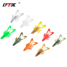 Купить с кэшбэком FTK Fishing Lure 5 pcs Soft Bait Shad Worm Insect Lure Accessories 3D Eye Fake Fish Wobbler Swim Bait Bass Silicone Saltwater HF