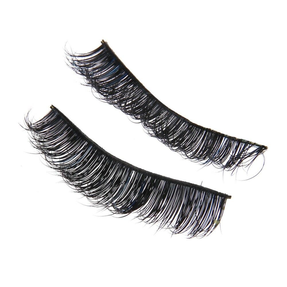 1/5 Pair False Eyelashes Messy Cross Thick Natural Fake Eye Lashes Makeup Tips Bigeye Long False Eye Lashes eyelashes for beauty