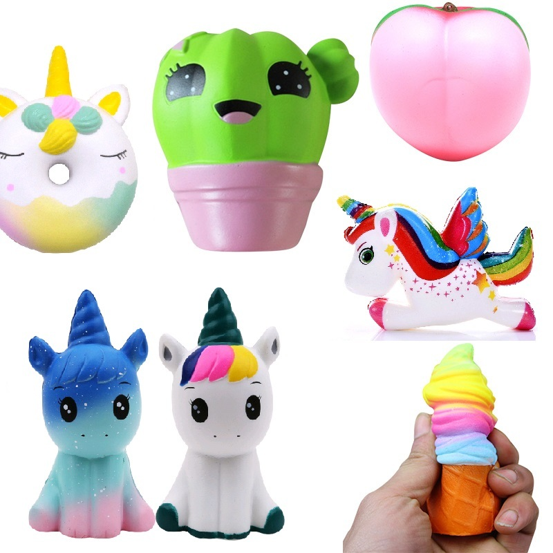 Cellphones & Telecommunications Charitable Cactus Unicorn Squeeze Doughnut Squishy Antistress Donut Squishy Slow Rising Stress Relief Funny Novelty & Gag Toys For Children Mobile Phone Accessories
