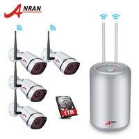 ANRAN 1080P Wireless CCTV System 4CH Bullet CCTV Camera Indoor Outdoor IR Night Vision Security IP