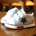 New 2016 High Quality Baby Shoes Star Baby Boy Canvas Sneakers Soft Breathable First Walkers #2262