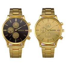 2019 New Brand Gold Mens Watches Top Brand Luxury Stainless Steel Analog Wristwatch Mens Gift Quartz Watch Discount #4A23