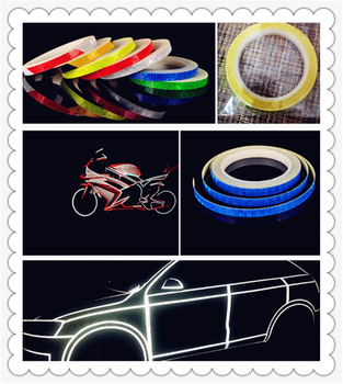 1cmX800cm car and motorcycle modeling reflective tape sticker warning for BMW E46 E39 E38 E90 E60 E36 F30 F30 image