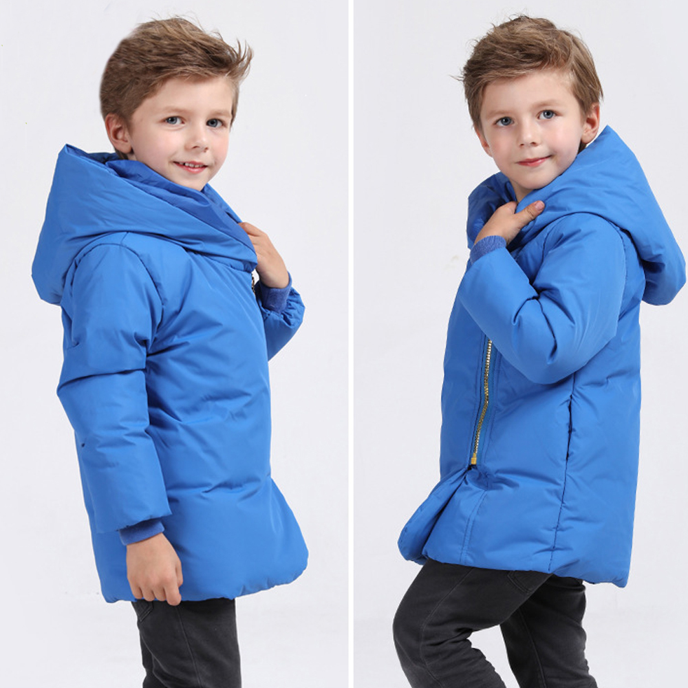 boys jacket winter down jacket for girl long-sleeve zipper solid warm Hooded parka coats children girls outerwear infant girl jacket winter children outerwear warm cotton padded coats princess girl s hooded coats baby thickening down