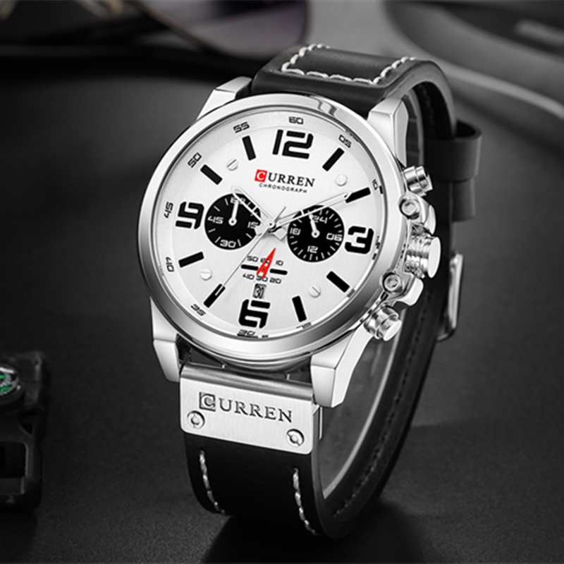 Image 5 - Top Brand Luxury CURREN 8314 Fashion Leather Strap Quartz Men Watches Casual Date Business Male Wristwatches Clock Montre HommeQuartz Watches   -