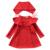 QUIKGROW 3-4 Años del Neckline Único Niño Niños Suéter Rojo y Blanco Vestido de Muchacha de Los Niños Ropa de Punto A Juego con sombrero FE09MY