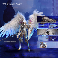 For Collection LXF1703 1/6 Full Set Lucifer Wings of Dawn Armor Costume Sword/Angel Ver 12 Action Figure Weapon for Fan Gifts