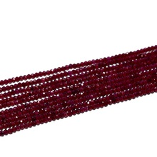 Niza 3mm rondelle talló vino natural rojo granate full strand