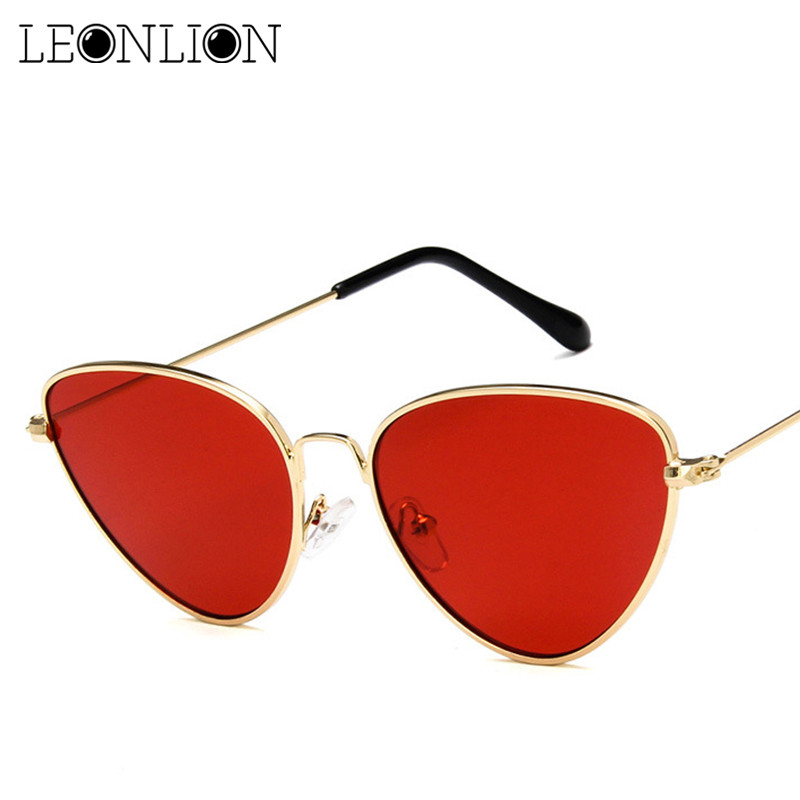 Leonlion Alloy Sunglasses Vintage Mirror Reflective Brand Designer Small UV400 Women