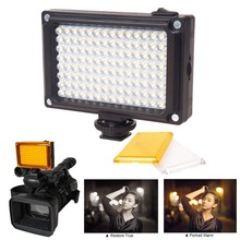 צילום תאורת 112 LED דו צבע 3200K 5600K מתכוונן טלפון וידאו אור עבור Youtube הזרמה עבור Canon ניקון פלאש