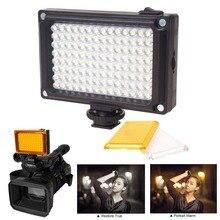 Iluminación fotográfica 112 LED Bicolor 3200K 5600K Luz de vídeo para teléfono ajustable para Youtube transmisión en vivo para Canon Nikon Flash
