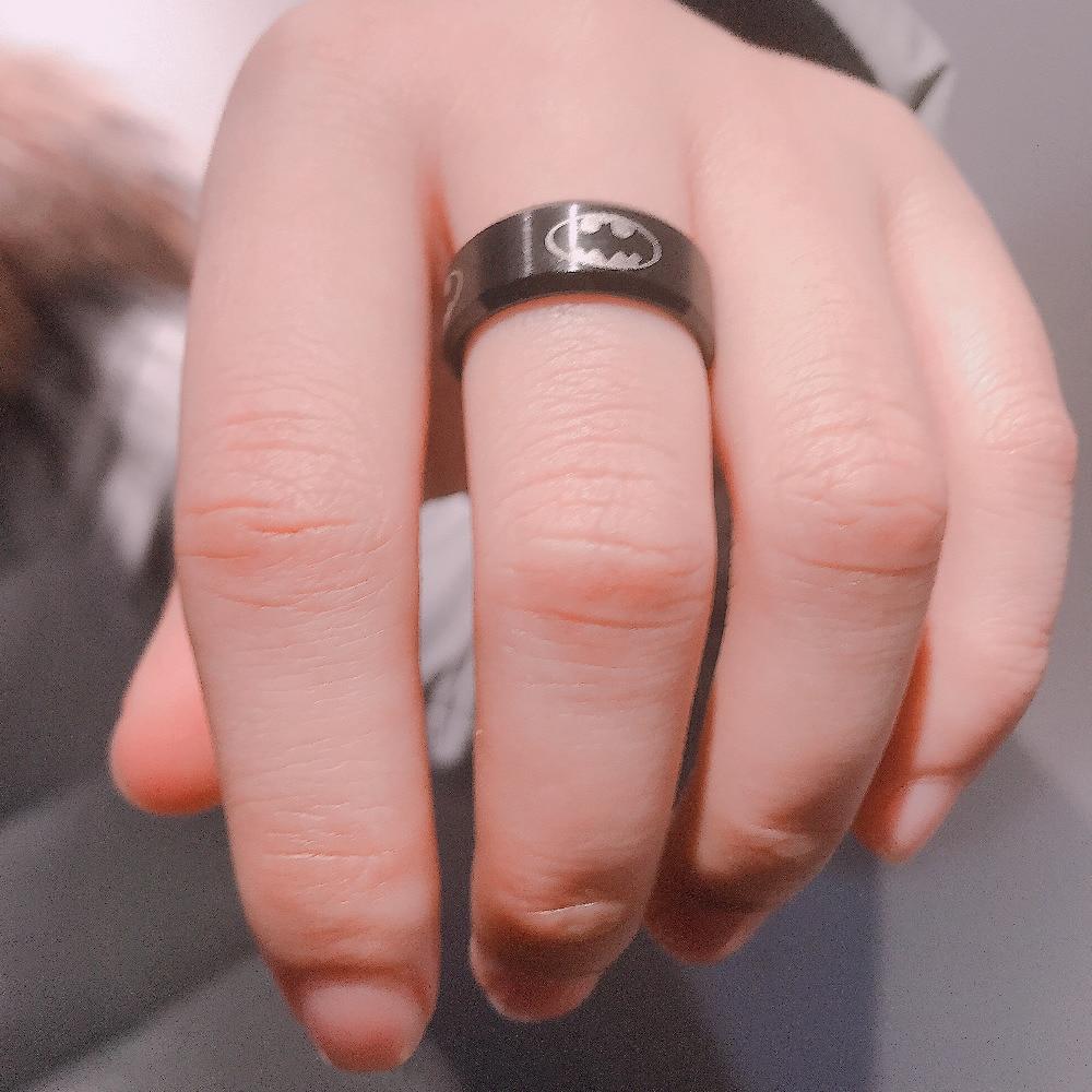 6mm Black Punk Rings Wedding Ring Stainless Steel Rings For Men ...