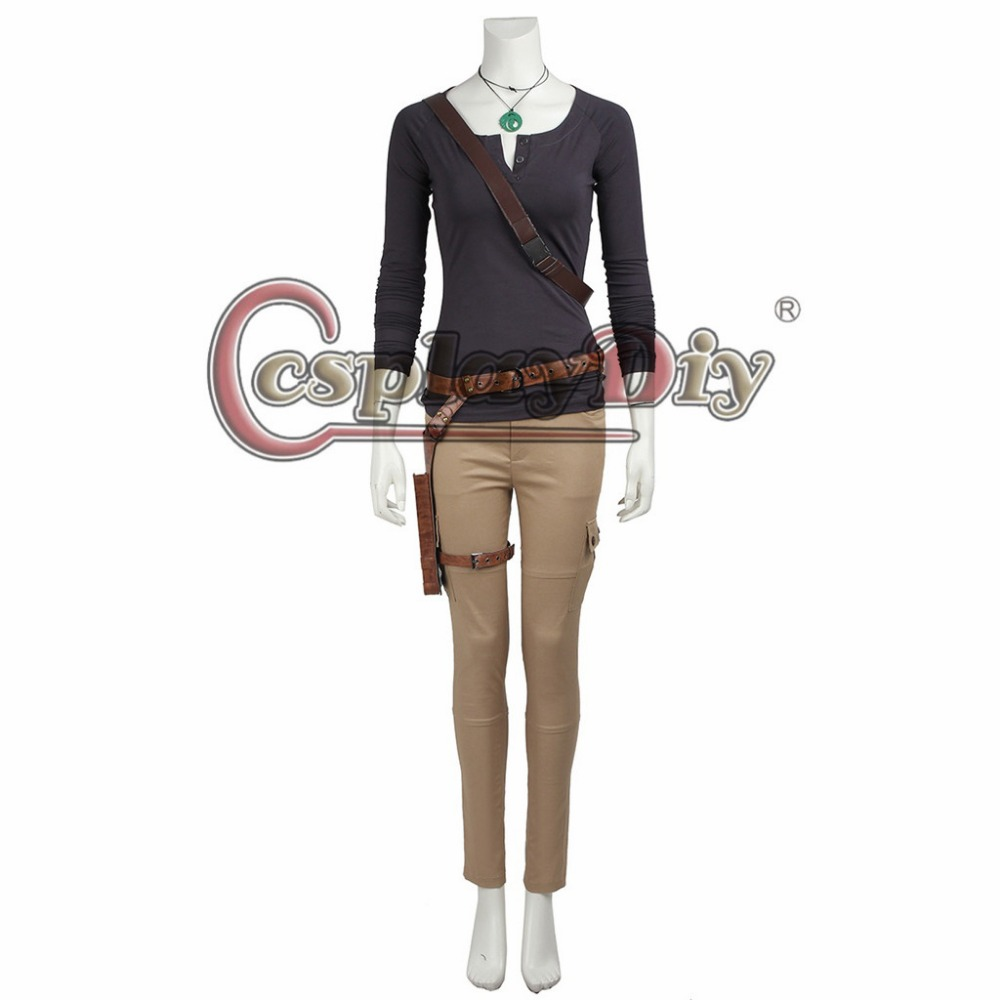 Cosplaydiy New Arrival Movie Tomb Raider Lara Croft Cosplay Costume Adult Women Halloween Outfit Custom Made Version 1 J10