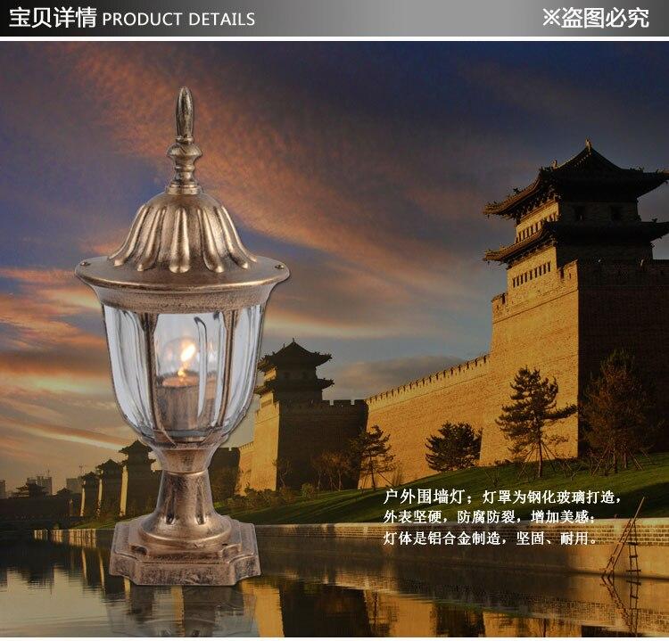 Lampe de paysage de lumière de mur imperméable extérieure a mené la lampe de balcon de lampe de pelouse de tête de colonne