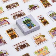 45Pcs/Pack Japanese Style Store House building Decoration Lable Stickers DIY Diary Planner Album Scrapbooking Craft Stickers