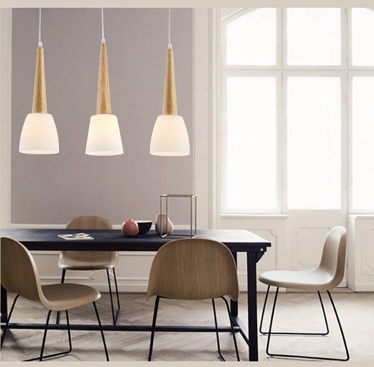 modern hanging lighting. single head loft pendant lights wood e27 modern hanging lighting glass lampshade luminarias indoor droplight