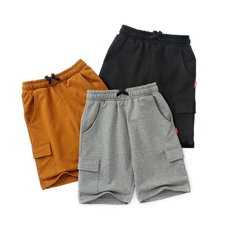 VIDMID chidren's clothes boys shorts solid thin cotton baby boy beach shorts for kids big boys casual trousers 4102 09 1