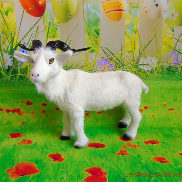 Grande nouvelle simulation moutons jouet polyéthylène et fourrures belle chèvre modèle sur 38x29 cm 077