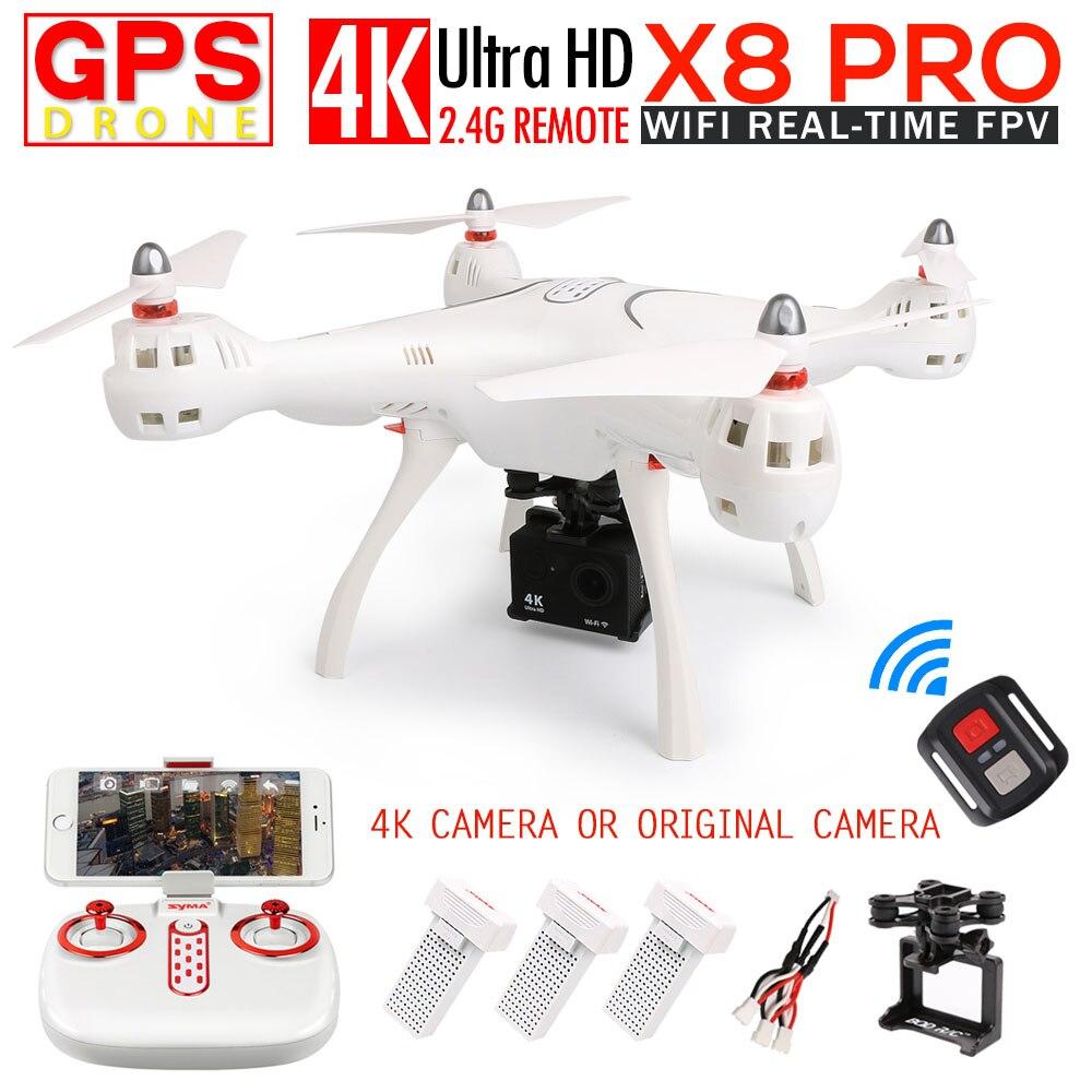 SYMA X8PRO GPS FPV RC Quadcopter RC Drone Avec 720 P Caméra ou 4 K/1080 P WIFI Caméra 2.4G 4CH 6 Axes X8PRO Wifi RC Hélicoptère jouets