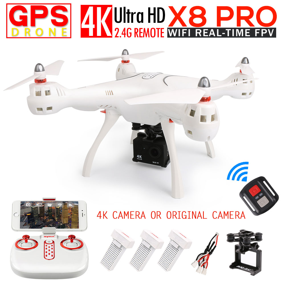 SYMA X8PRO GPS FPV RC Quadcopter RC Drone With 720P Camera or 4K/1080P WIFI Camera 2.4G 4CH 6 Axis X8PRO Wifi RC Helicopter toys ...