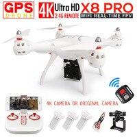 SYMA x8pro GPS FPV системы RC Quadcopter Дрон с 720 P Камера или 4 К/1080 P WI FI Камера 2.4 г 4ch 6 оси x8pro WI FI вертолет игрушки