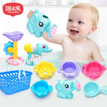 9 Pcs/Set Baby Bath Toys Cute Animals Water Pistol Waterwheel Children Funny Bathroom Play Toy Gifts