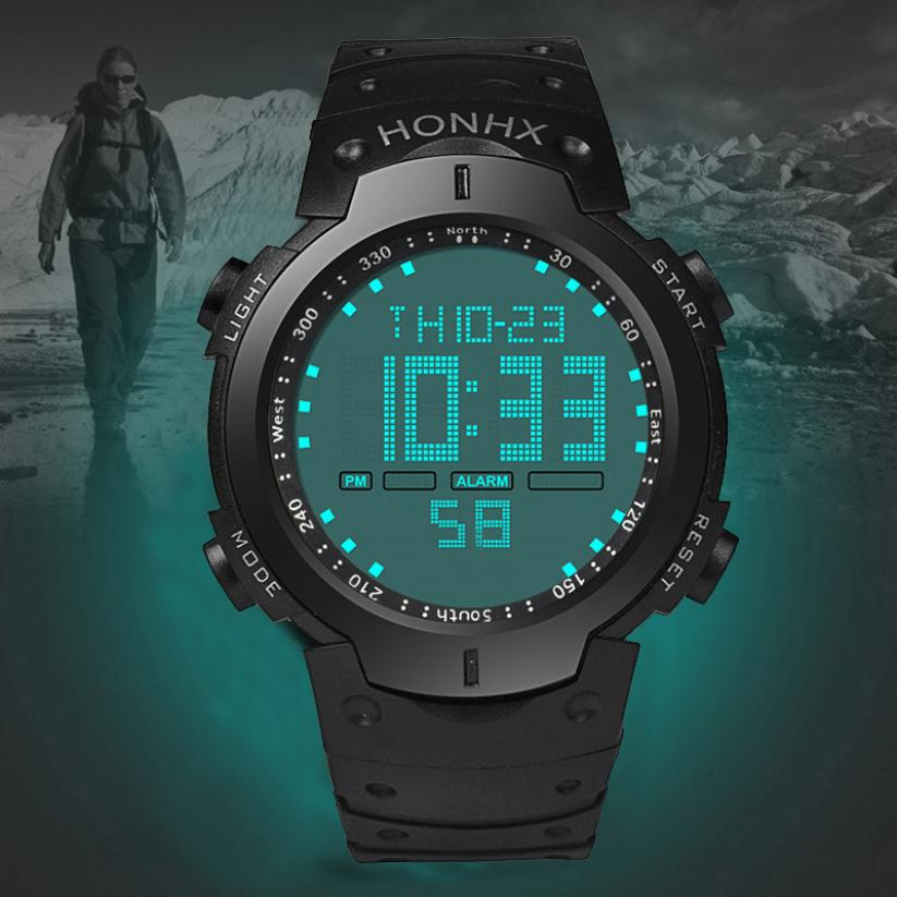 Fashion Waterproof Sport Super Cool Men's Quartz LCD Digital Watch Men Sports Watches Luxury Brand Military Wristwatches  #D