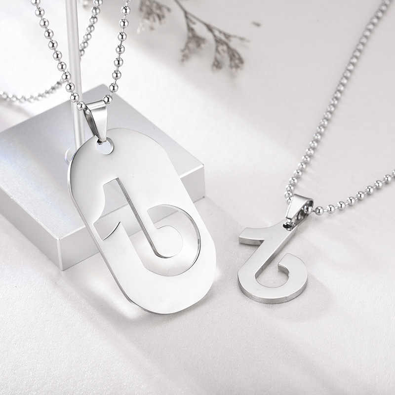 Hip Hop Musical Note Necklaces Stainless Steel Black Silver Gold  Color Card Music Couple Design Pendant Necklace Lovers Gift