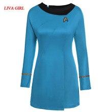 movie Star Trek High Quality star trek female uniform Dress cosplay costume Free Shipping