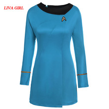 Фильм Star Trek высокое качество Звездный путь Женский равномерное платье карнавальный костюм Бесплатная доставка