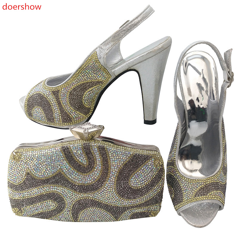 doershow nice-looking Italian Shoes and bag to match good quality New Fashion shoes and bag set For lady LULU1-5 top selling italian shoes and bag to match good quality fashionable shoes and bag set for lady pme1 12