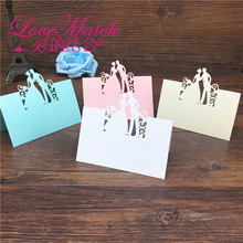 40pcs Bride and Groom Laser Cut Place Cards Wedding Name Cards Guest Name Place Card Wedding Party Table Decoration