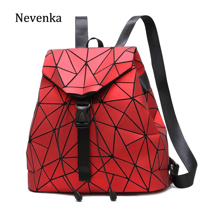 Nevenka Luxury Brand Designer Leather Backpack Women Geometric Bags For Women Backpacks School Bags For Girls Teenagers
