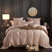 60 s Тенсел Чистый цвет комплект постельного белья высокого класса шелковые постельные наборы/постельное белье королевы король размер подод
